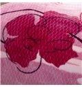 Elegant Flowers Printing Thick Pink Raschel Blanket