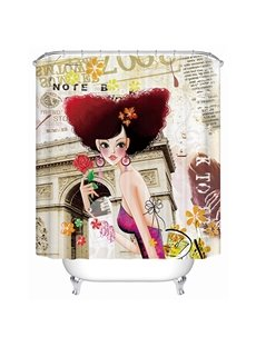 New Style Unique Fashion Girl 3D Shower Curtain