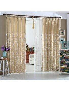 Wonderful Beige High Quality Double Pinch Pleat Curtain