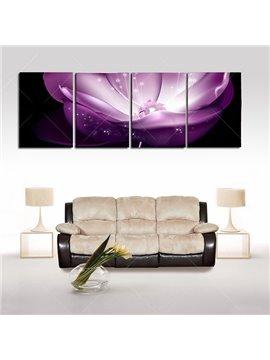 Fabulous Dreamy Purple Waterlily Frameless 4-Panel Wall Art Prints