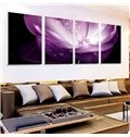Fabulous Dreamy Purple Waterlily Frameless 4-Panel Wall Art Prints