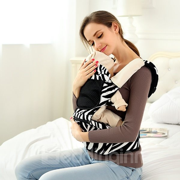Cute Zebra Pattern Multi-Functional Baby Hip Seat Carrier
