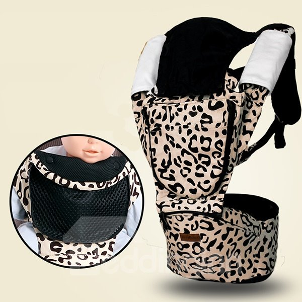 Adorable Leopard Pattern Multi-Functional Baby Carrier