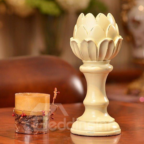 Unique Lotus Design 3-Piece Resin Candle Holders