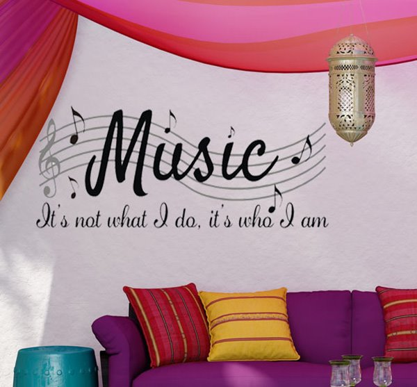 Creative Music Letters and Staff Removable Wall Sticker