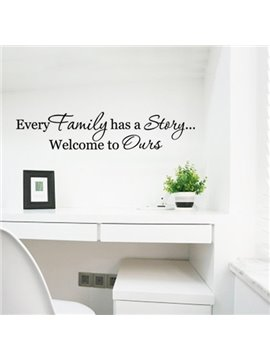 Words and Letters Every Family Has a Story Removable Wall Sticker