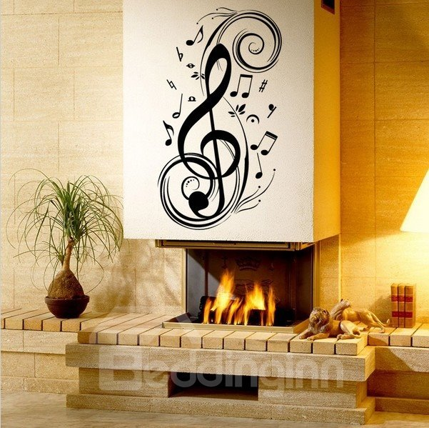 Modern Artful Music Notes Removable Wall Sticker