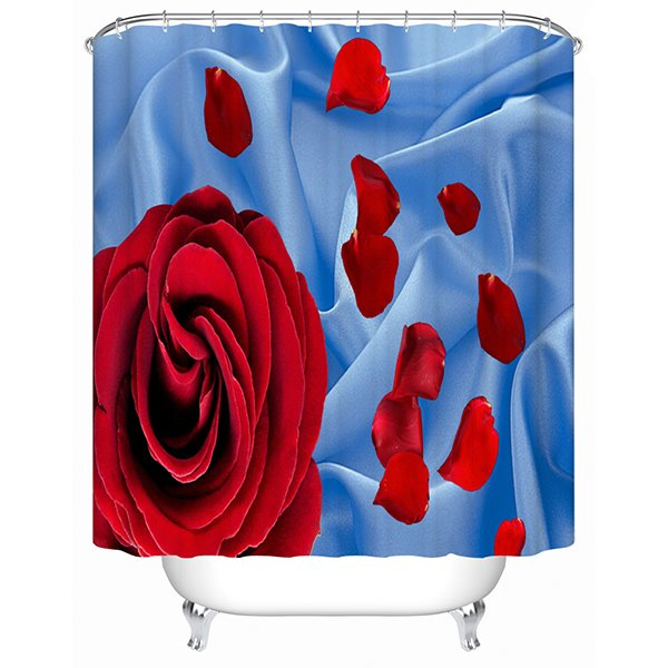 Romantic Charming Red Rose 3D Shower Curtain