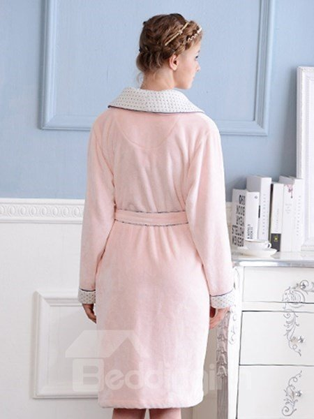 New Design Graceful Concise Solid Color Pink Women