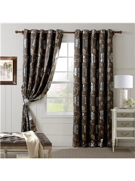 Top Quality Luxury Floral Grommet Top Curtain