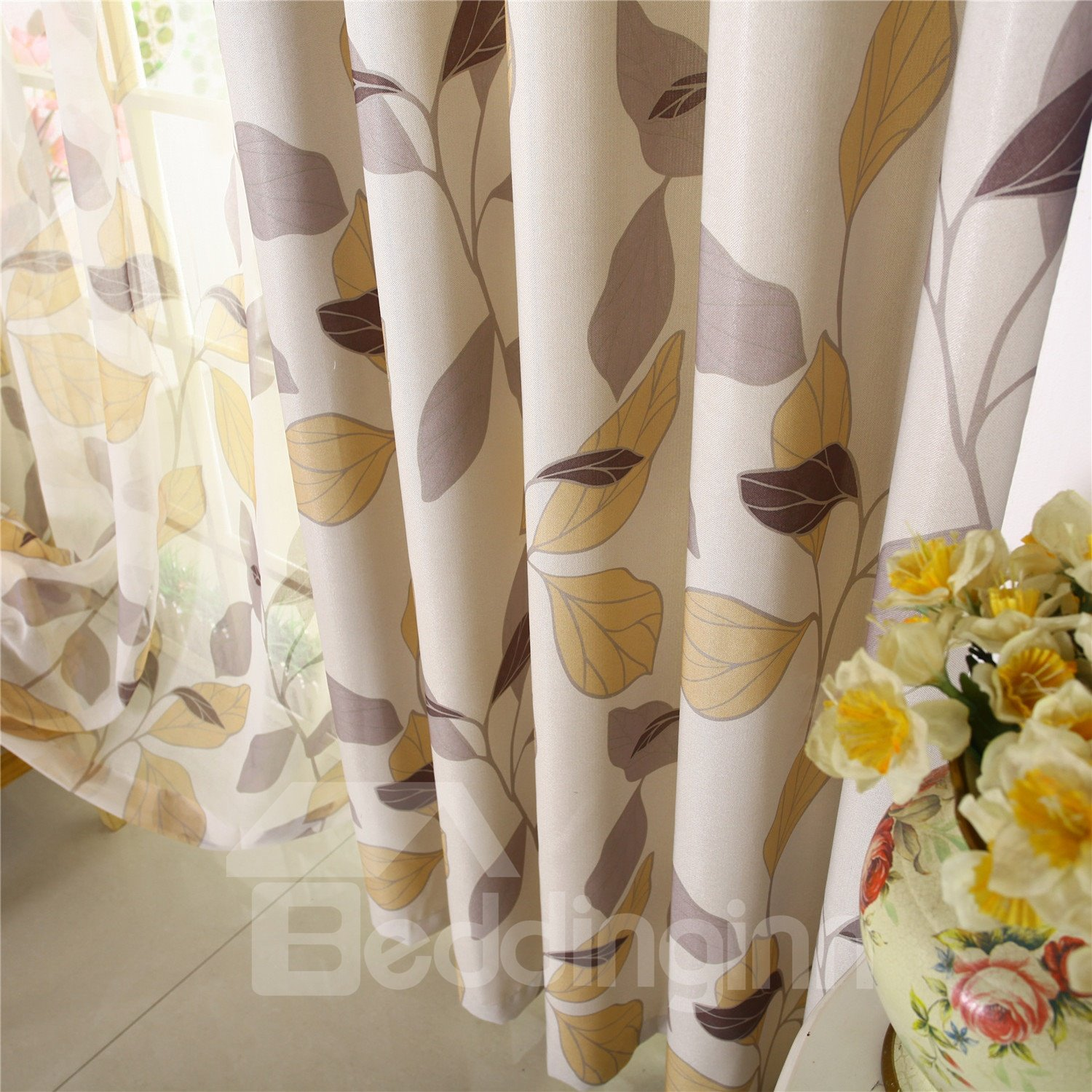 Modern High Shading Degree Grommet Top Curtain