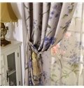 Pastoral Style High Quality Grommet Top Curtain