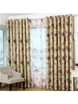 Modern Decoration High Quality Grommet Top Curtain