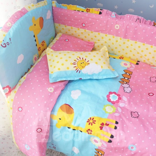 Happy Sunshine Deer 10-Piece Crib Bedding Sets