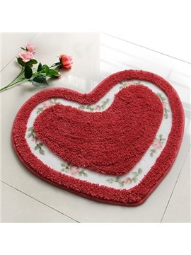 Modern Unique Style Heart-shaped Bath Rug