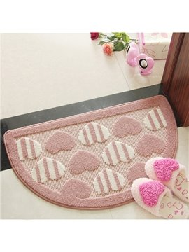 Super Lovely Heart-shaped Printing Soft Bath Rug