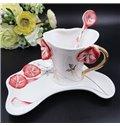 Wonderful Ceramic 3D Bellflower Design Coffee Cup