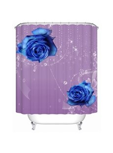 High Class Royalblue Roses 3D Shower Curtain