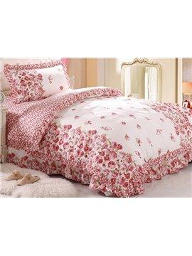100% Cotton Romantic Roses Pattern Kids 3-Piece Duvet Cover Sets