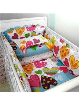 Heart of Love 10-Piece Cotton Crib Bedding Sets