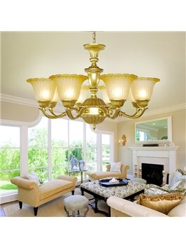 Wonderful Pastoral Style Western Living Room 8-Head Chandelier