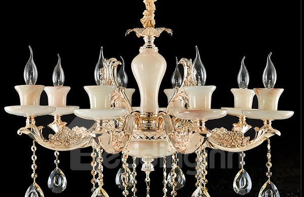 Gorgeous European Style Candlestick 8-Head Crystal Chandelier