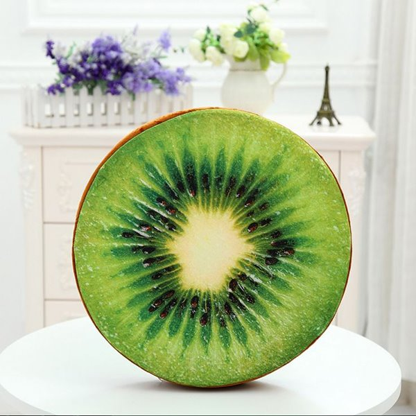 Tasty Green Kiwi Fruit Design Throw Pillow