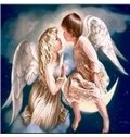 Wonderful Boy and Girl Angel with Wings DIY Diamond Stickers