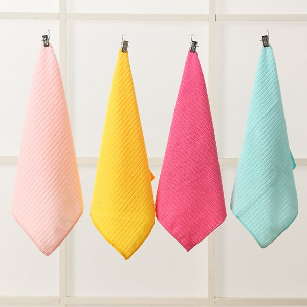 Fashion Concise Solid Color Jacquard Ultrafine Fiber Hand Towel