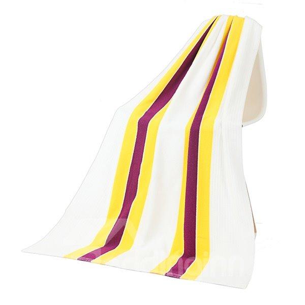 Fashion Modern Colored Stripes Ultrafine Fiber Bath Tower