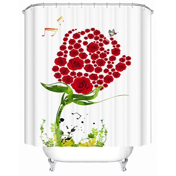 Wonderful Fantastic Flower World 3D Shower Curtain