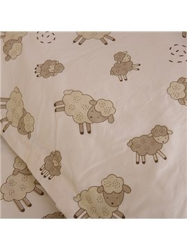 Adorable Sheep Pattern Baby Crib Fitted Sheet