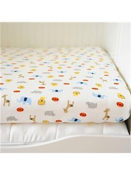 Lovely Animals and Football Pattern Baby Crib Fitted Sheet
