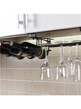 Creative Versatile Cupboard Hanging Wine Rack & Bottle Holders