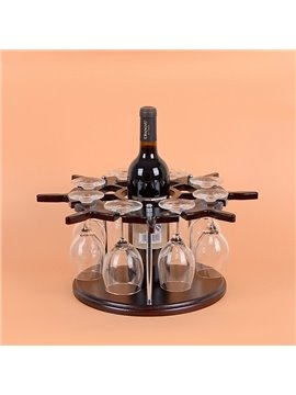 Creative European Style Wood Rudder Design Wine Rack & Bottle Holder