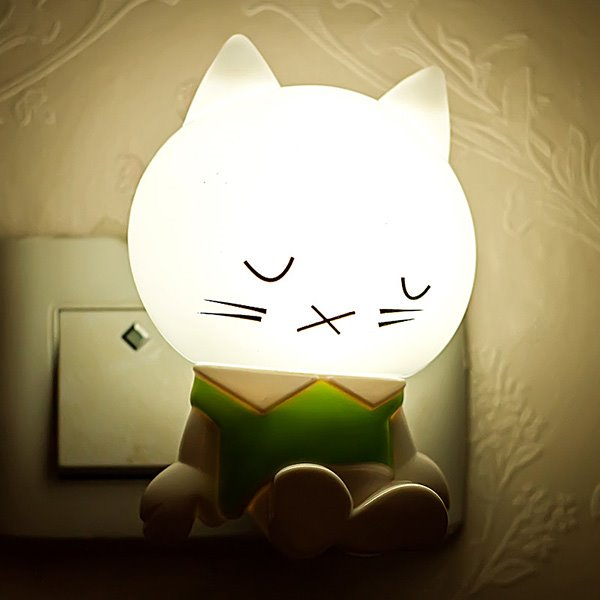 Creative Cartoon Dozing Cat Light-Operated LED Nightlight