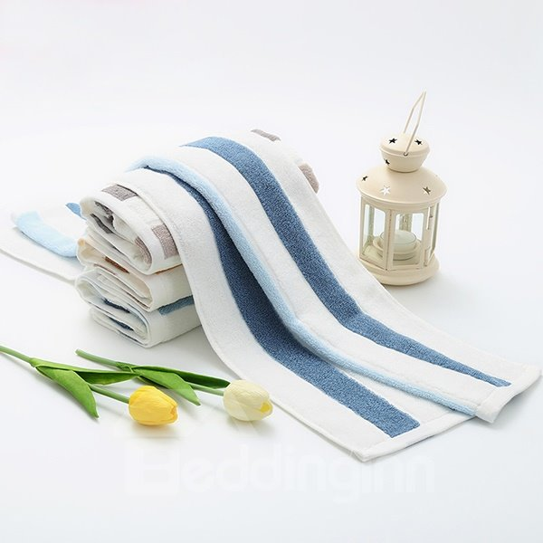 New Fashion Concise Colorful Stripes Thick 100% Cotton Tower