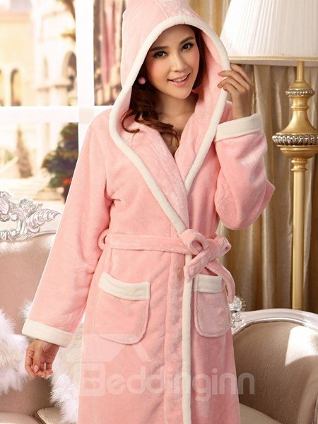New Arrival Concise Lovely Pink Flannel Women