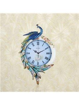 Stunning European Palace Peacock Design Wall Clock