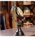 European Vintage Globe Design Desktop Decoration Desk Clock