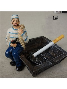 Creative Sailor Resin Ashtray Desktop Decoration