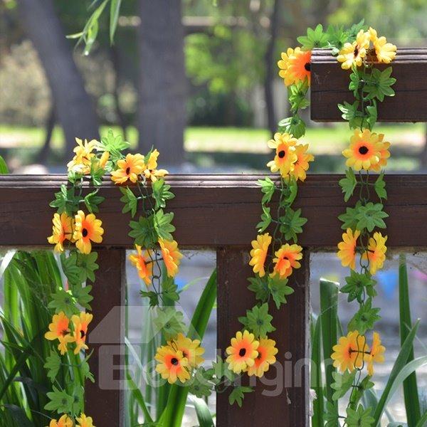 Wonderful Home Decoration Sunflower Artificial Flower Vine