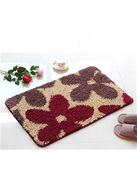 Hot Selling Flower Print Home Bath Rug