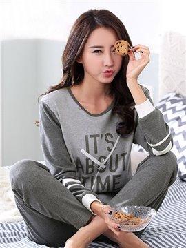 New Style Homedress Leisure 100% Cotton Pajamas Set