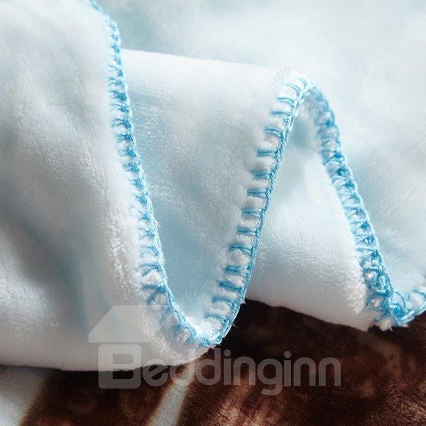 Vivid Sheep Around Fence Print Baby Blanket