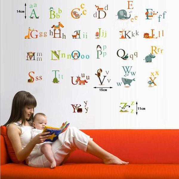 Creative Letters ABC Nursery Kidsroom Removable Wall Sticker