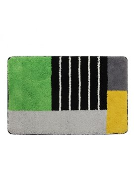 High Quality Multiple Color Stripes Bathroom Rug