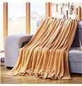 Exquisite Jacquard Design Muted Solid-colored Camel Blanket