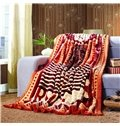 Modern Fashion Stripe Design Thick Cozy Blanket