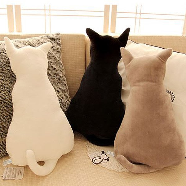 Light purple bedding - Creative Lovely Cat Shaped Design Throw Pillow